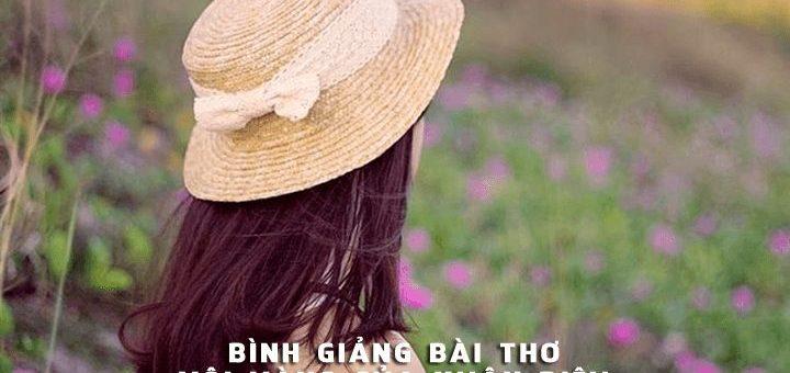 binh giang bai tho voi vang cua xuan dieu 720x340 - Bình giảng bài thơ Vội vàng của Xuân Diệu