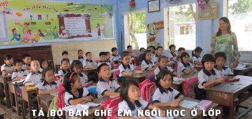 ta bo ban ghe em ngoi hoc o lop 520x245 - Tả bộ bàn ghế em ngồi học ở lớp - Văn mẫu lớp 2