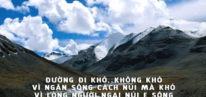 duong di kho khong kho vi ngan song cach nui 720x340 - Nghị luận câu nói của Nguyễn Bá Học: Đường đi khó, không khó vì ngăn sông cách núi mà khó vì lòng người ngại núi e sông