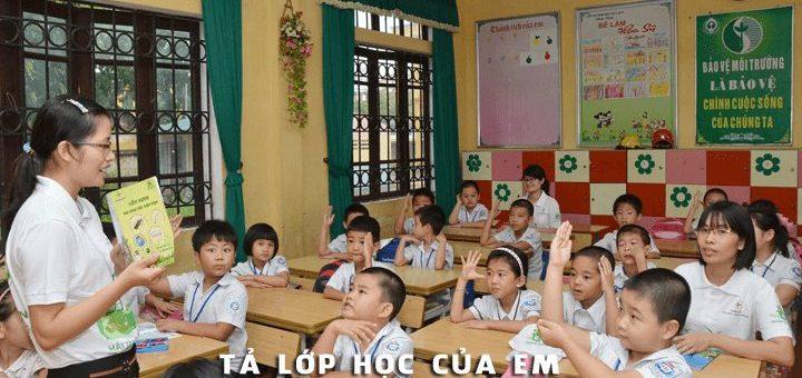 ta lop hoc tieu hoc 720x340 - Tả lớp học của em - Văn mẫu lớp 5