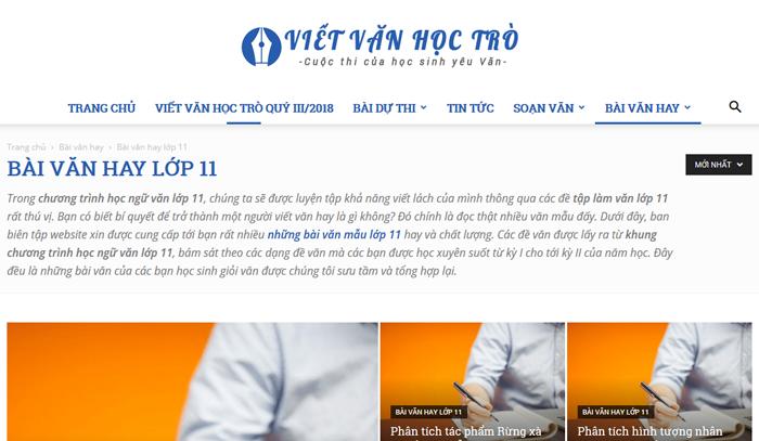 top 10 website nhung bai van mau hay lop 11 moi nhat 6 - Top 10 website những bài văn mẫu hay lớp 11 mới nhất