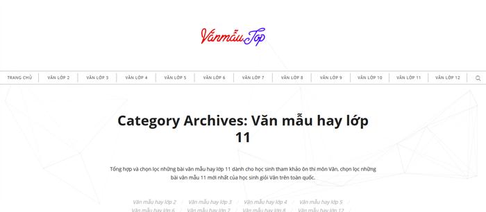 top 10 website nhung bai van mau hay lop 11 moi nhat - Top 10 website những bài văn mẫu hay lớp 11 mới nhất