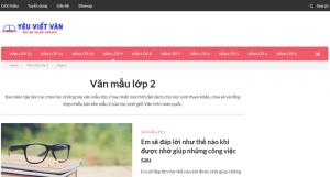Top 10 website những bài văn mẫu hay lớp 2 mới nhất